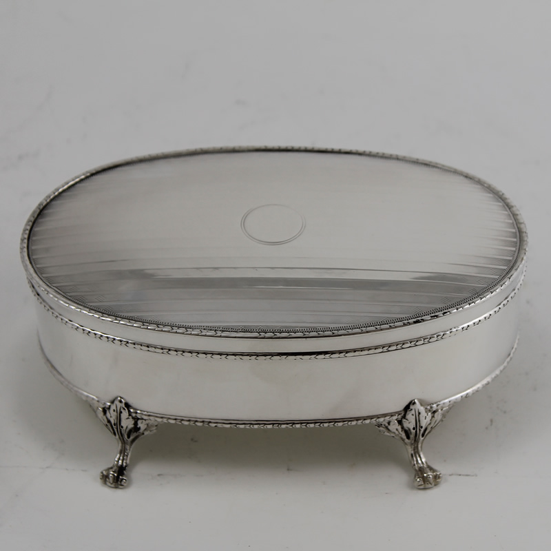 Antique Silver Jewellery Casket R.801