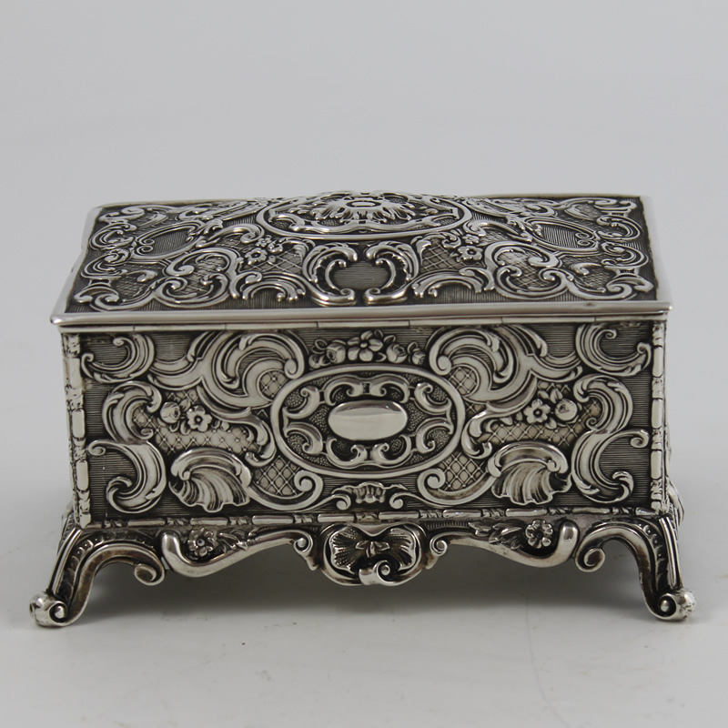 Antique Silver Jewellery Casket R.812