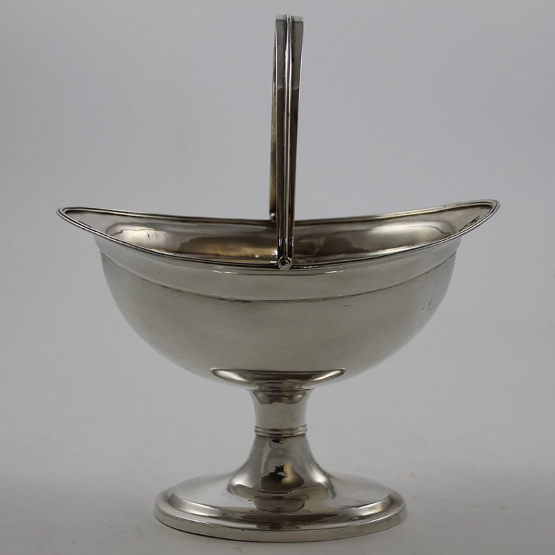 Antique Irish Silver Sugar Basket R.630