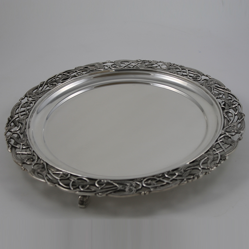 Irish Silver Salver R.430